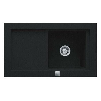 TEKA Aura 45 B TG metál fekete gránit megfordítható egymedencés mosogató csepptálcával