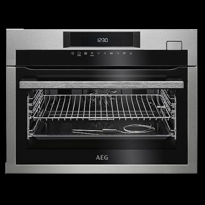 AEG KSE782220M Beépíthető kompakt multi gőzsütő hőlégbefúvás+gőz+húshőmérő 43L A+