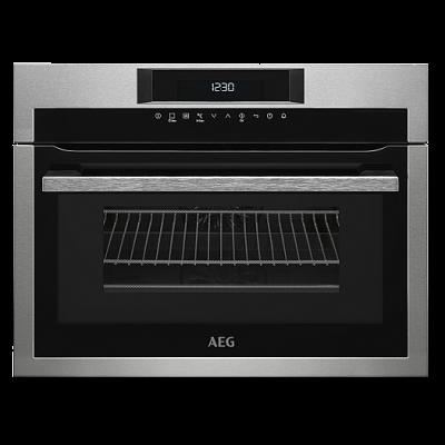AEG KME761000M Beépíthető kompakt multifunkciós mikró+sütő grill funkcióval 43L