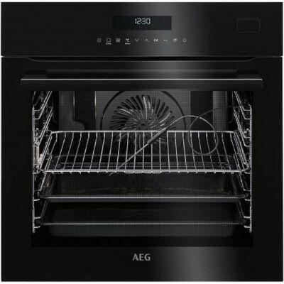 AEG BSE782320B Beépíthető fekete multi gőzsütő hőlégbefúvás+gőz+húshőmérő 70L A+