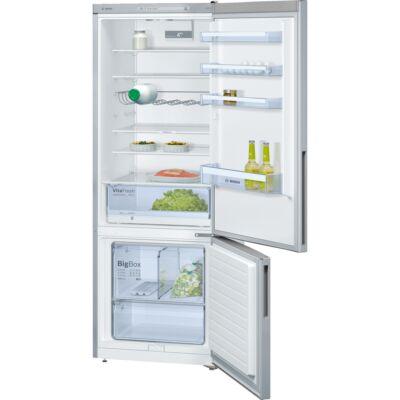 Bosch KGV58VL31S Inox alulfagyasztós kombinált hűtőszekrény 376/124L A++