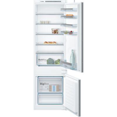 Bosch KIV87VS30  beépíthető kombinált alulfagyasztós hűtőszekrény 209/63L A++