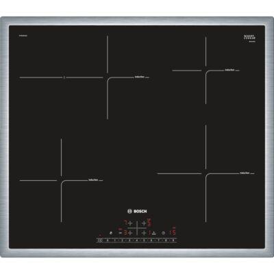 Bosch PIF645FB1E Fekete Indukciós üvegkerámia főzőlap nemesacél kerettel