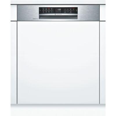 Bosch SMI68IS00E Félig beépíthető mosogatógép inox külső vezérlővel 13 teríték A+++