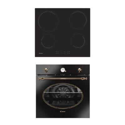 Candy FCR 824GH beépíthető rusztikus elektromos sütő - CC 64 CH beépíthető kerámia főzőlap szett