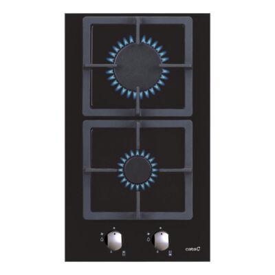 CATA LCI 302 BK Beépíthető fekete üveg gomió gázfőzőlap automata szikragyújtással 29cm