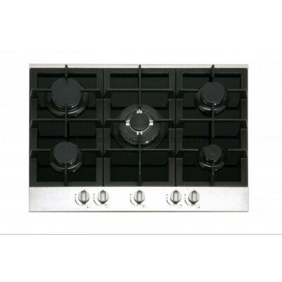 NODOR GCI 57 black Beépíthető 5 égős fekete üveg gázfőzőlap wok égővel 70cm
