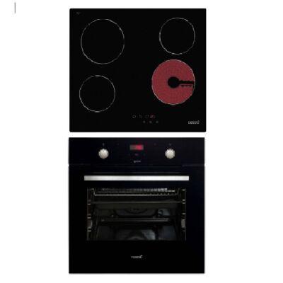 CATA MD 7010 BK -TN 604 kerámialapos fekete szett elektromos sütővel