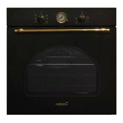 CATA MRA 7108 BK Beépíthető rusztikus fekete multifunkciós programozható sütő 60L A
