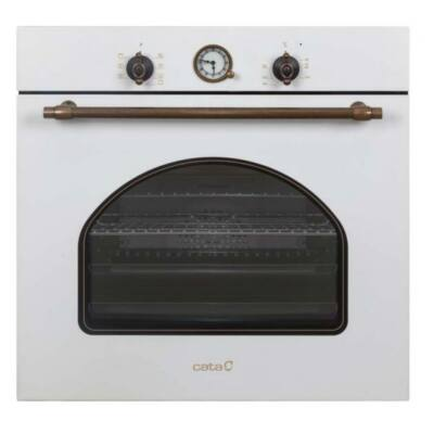 CATA MRA 7108 WH Beépíthető rusztikus fehér multifunkciós programozható sütő 60L A