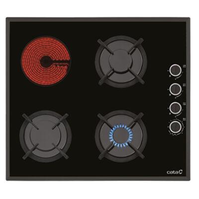 Cata MVG 604 Beépíthető fekete üveg 2in1 gáz-kerámia főzőlap szikragyújtással 60cm