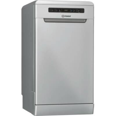 Indesit DSFO 3T224 C S ezüst keskeny mosogatógép kijelzővel gyorsprogram 10 teríték A++