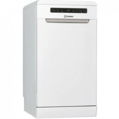 Indesit DSFO 3T224 C fehér keskeny mosogatógép kijelzővel gyorsprogram 10 teríték A++