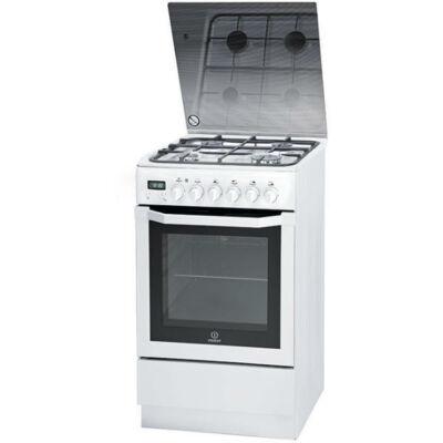 Indesit IS5G5PHW/E keskeny kombinált tűzhely digitális óra grill  pizza funkció 50cm  61L A