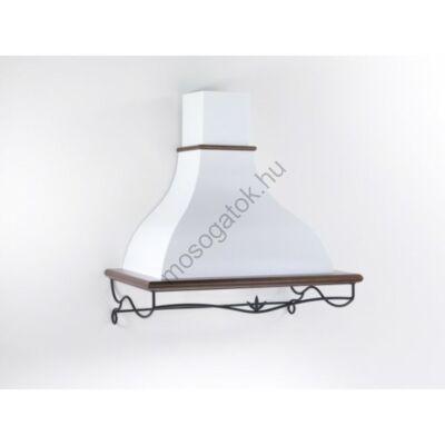 Kdesign MIRO 120 T600 rusztikus fehér kürtős fali páraelszívó kézzel készített díszráccsal 120cm D