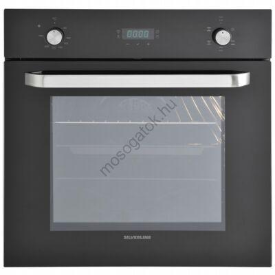 Silverline BO6024B01 beépíthető fekete multifunkcionális sütő digitális kijelzővel 69L A