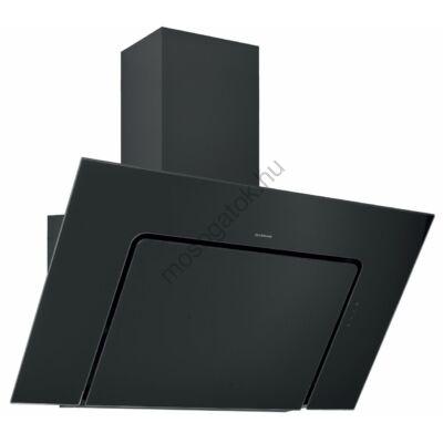 Silverline U-LINED 3423 Design fali döntött fekete üvegernyős páraelszívó 90cm C