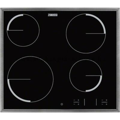 ZANUSSI ZEV36340XB Beépíthető fekete üvegkerámia főzőlap gyerekzárral fémkerettel