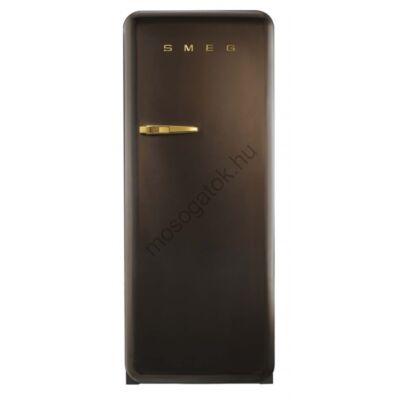 Smeg FAB28LCG1  retro egyajtós hűtő fagyasztóval csokibarna balos 222/26L A++