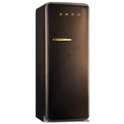 Smeg FAB28RCG1 retro egyajtós hűtő fagyasztóval csokibarna jobbos 222/26L A++