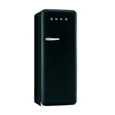 Smeg FAB28RBL3 retro egyajtós hűtőszekrény fagyasztóval fekete jobbos 222/26L A+++