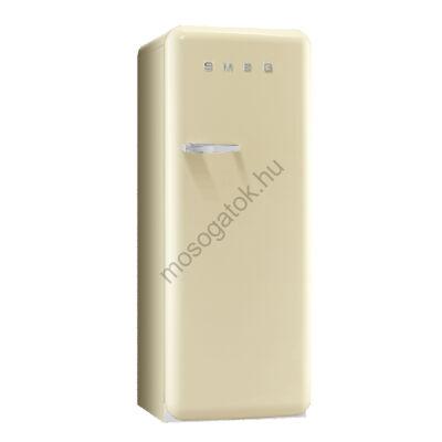Smeg FAB28RP1 retro egyajtós hűtőszekrény fagyasztóval bézs jobbos 222/26L A+