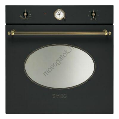 Smeg SF800AO Colonial beépíthető rusztikus antracit/bronz sütő analóg órával 70L A