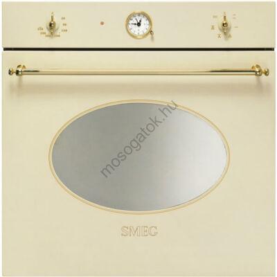 Smeg SF800PO Colonial beépíthető rusztikus bézs/bronz sütő analóg órával 70L A