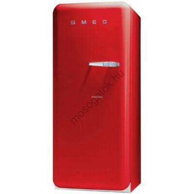 Smeg FAB28LR1 retro egyajtós hűtőszekrény fagyasztóval piros balos 222/26L A+