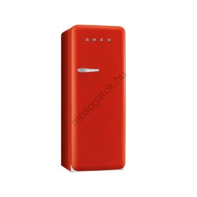 Smeg FAB28RR1 retro egyajtós hűtőszekrény fagyasztóval piros jobbos 222/26L A+