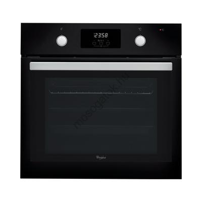 Whirlpool AKP 745 NB Fekete beépíthető multifunkciós sütő kijelzővel gőztisztítás 65L A
