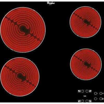 Whirlpool AKT 8090/NE szegély nélküli 4 zónás kerámia főzőlap kijelzővel időzítő 60cm