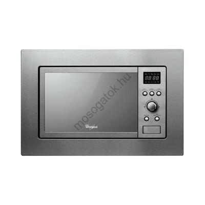 WHIRLPOOL AMW 1401/IX Inox beépíthető grilles mikrohullámú sütő kijelzővel 20L 800W