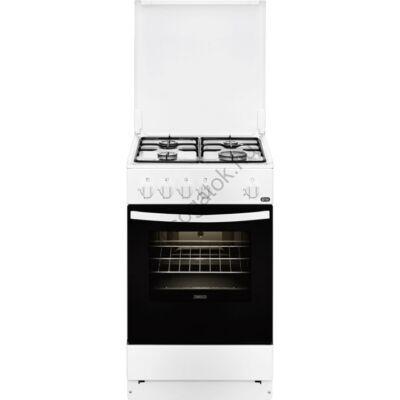 Zanussi ZCG210S1WA Fehér gáztűzhely pizza funkcióval 50cm