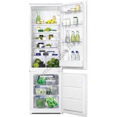 ZANUSSI ZBB28441SA  beépíthető kombinált alulfagyasztós hűtőszekrény 202/75L A+