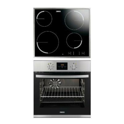Zanussi ZOC 25601 XU beépíthető elektromos sütő - ZEV 36340 XB kerámia főzőlap szett