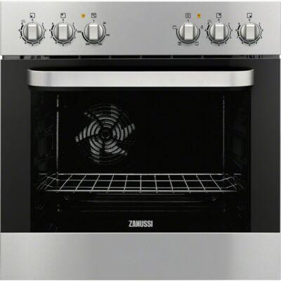 ZANUSSI ZZU20309XU Beépíthető inox/fekete multifunkciós sütő légkeveréssel 53L A